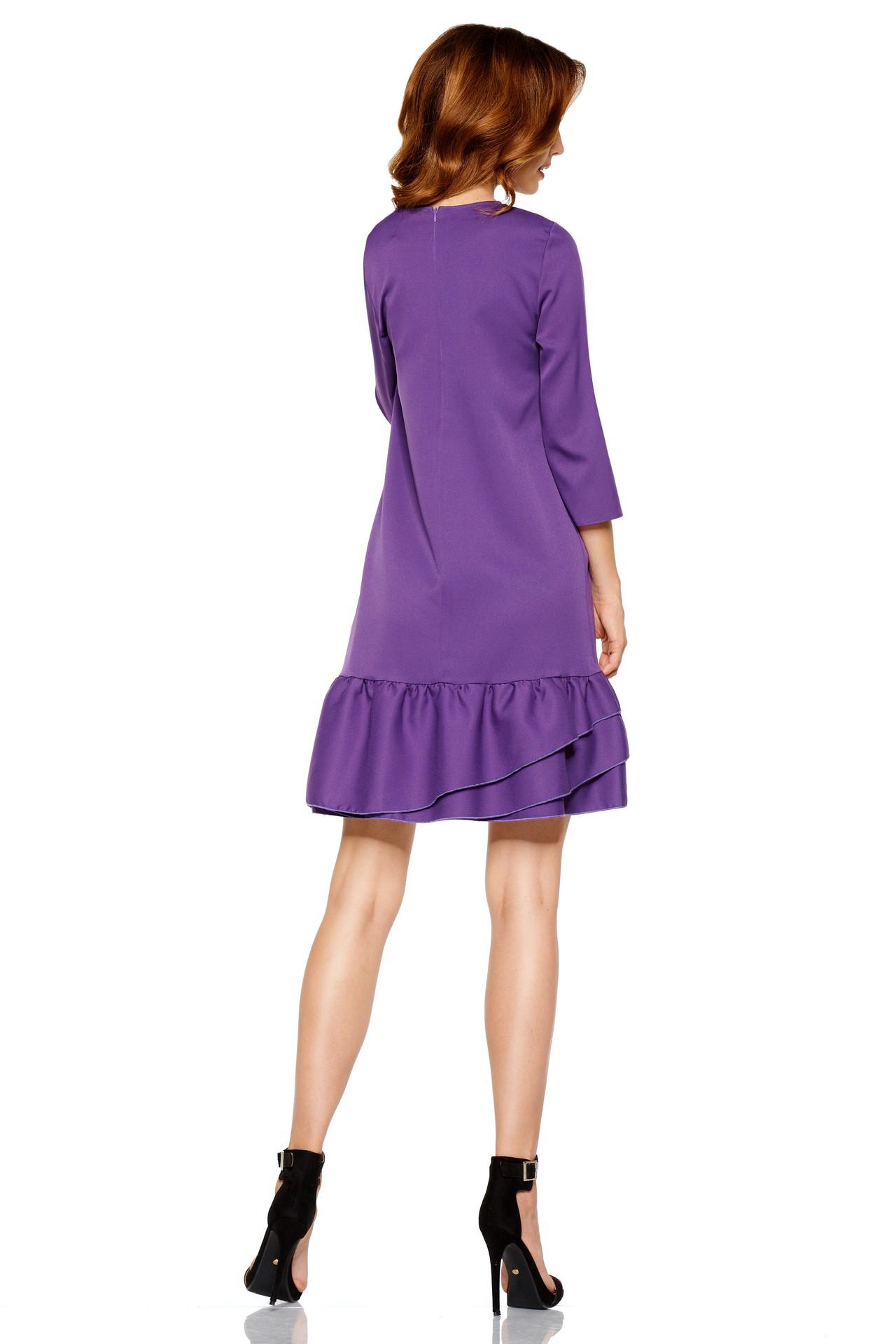 Áčkové šaty s volánom L272 - fialové - Florentis.sk 82f28170959