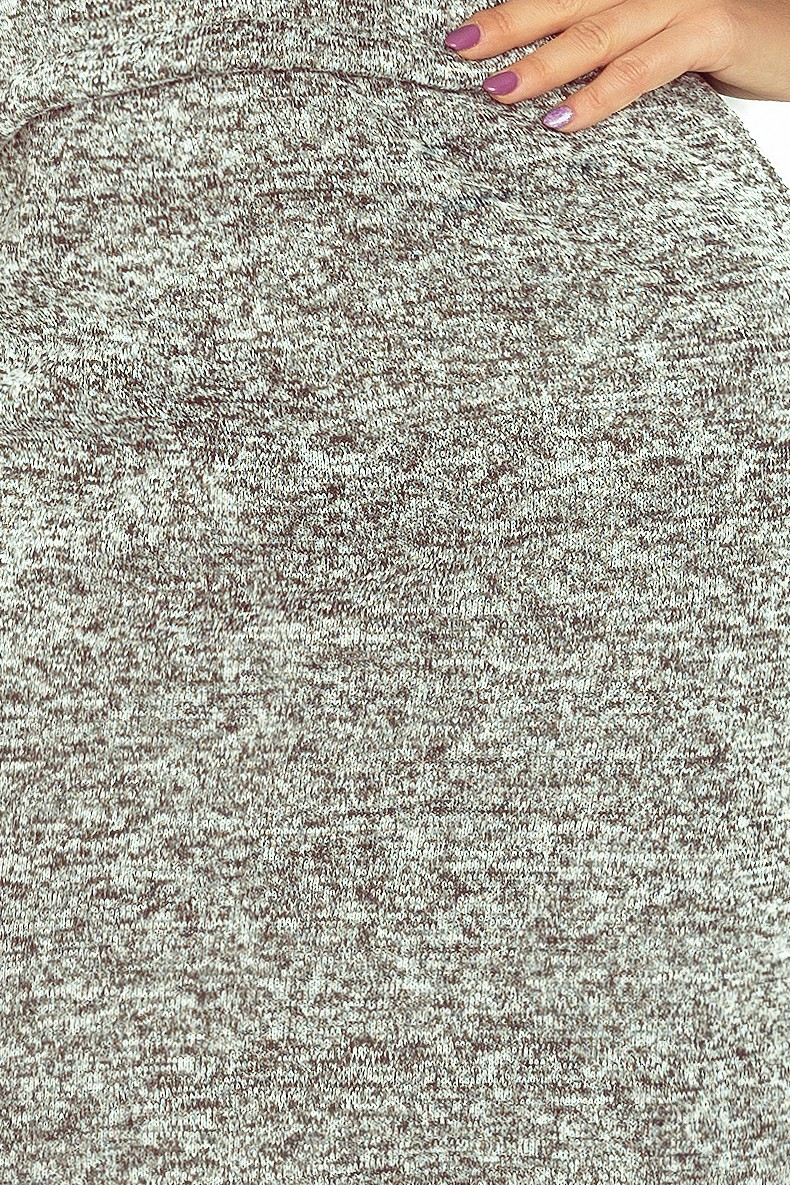 9b5f7ba2b52a Dámske teplé šaty AGATA 161-14 - šedá melanž - Florentis.sk