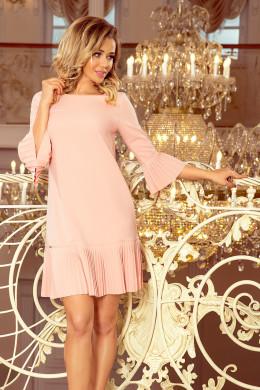 16b539075 Elegantné dámske šaty 228-1 LUCY - broskyňové